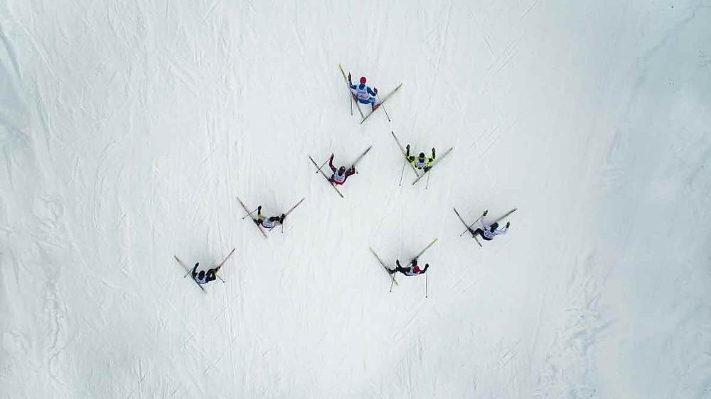 Ski race, Adzhigardak, Asha, Russia