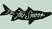 The Fat Snook logo lt green background.p