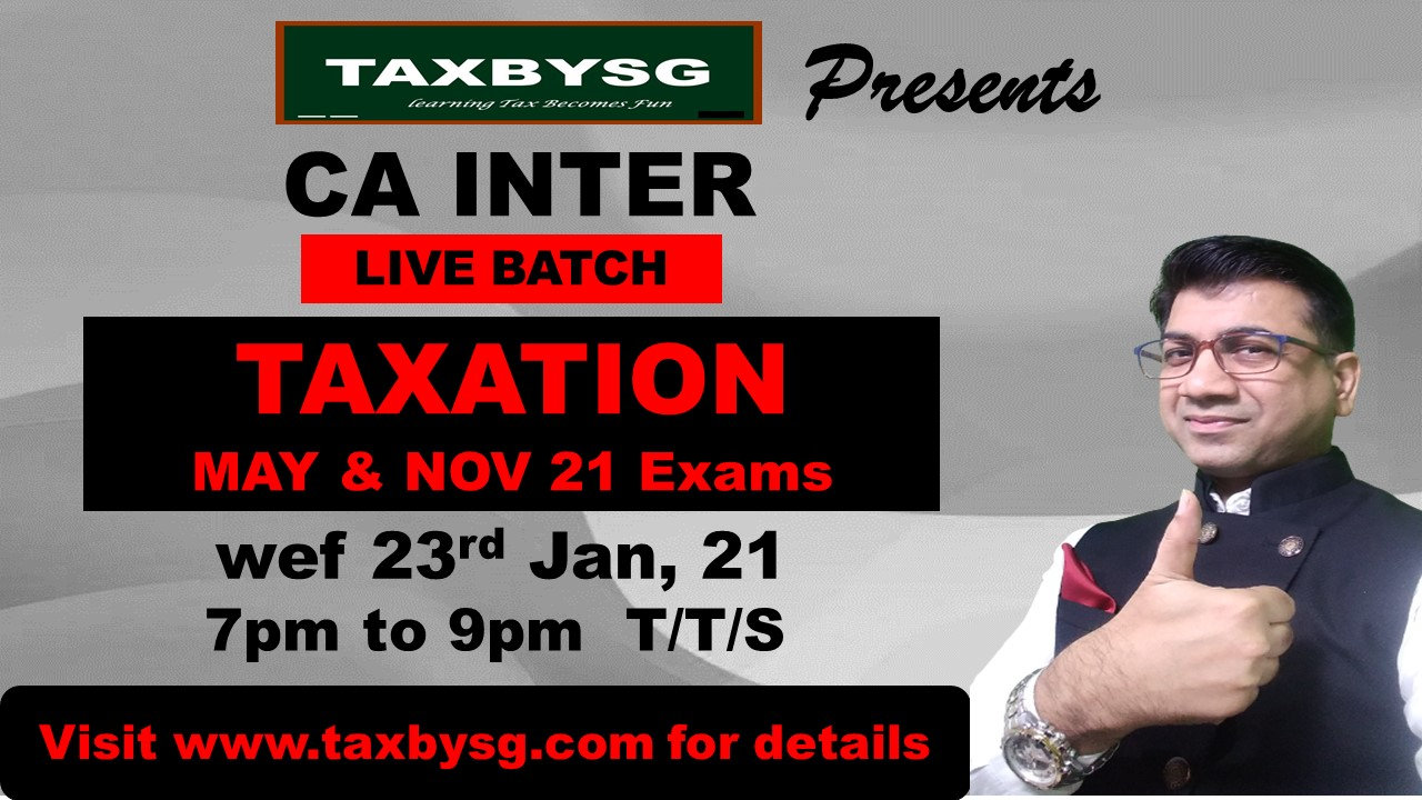 CA INTER LIVE TAXATION BATCH