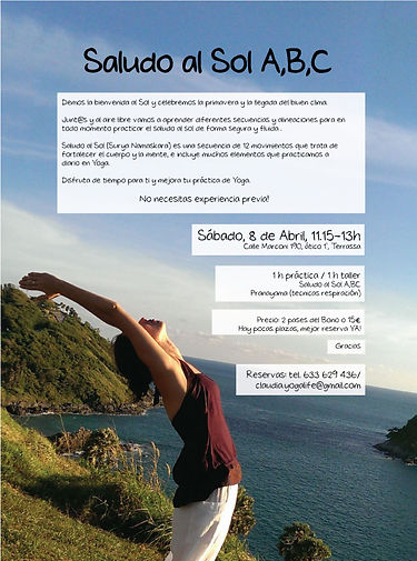 Yoga en Terrassa: Taller Saludo al Sol
