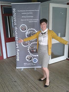 Takapuna Rotary Member Kelly McLuckie at a Rotary training event