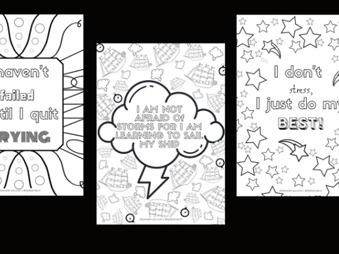 7 Days of FREE Growth Mindset Colouring Posters!