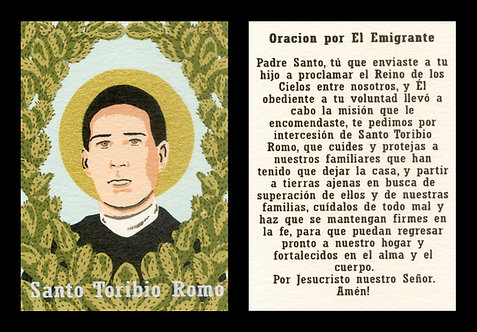Santo Toribio Romo Gonzalez Prayer Card