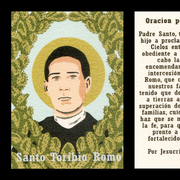 Santo Toribio Romo Gonzalez Prayer Card