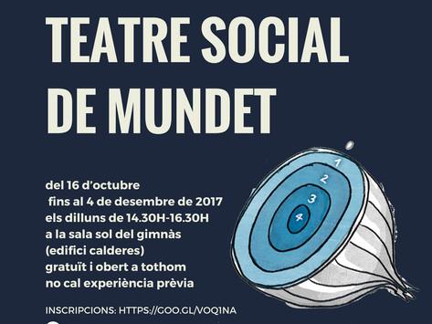 Obertes les inscripcions per participar al Grup de Teatre Social a Mundet (UB)