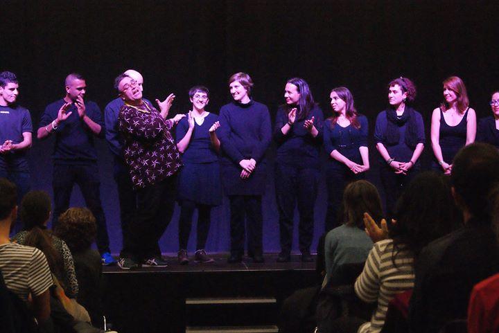 Representación de las piezas de teatro foro que creamos con  los participantes del Aula Taller de Te