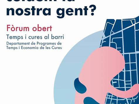 """Fòrum obert """"A Sant Andreu, cuidem la nostra gent?"""" del Grup Motor Territorial del project"""