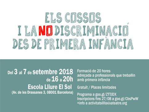 Formació: 'Els cossos i la no-discriminació des de primera infància' (3-7 setembre, Barcelon