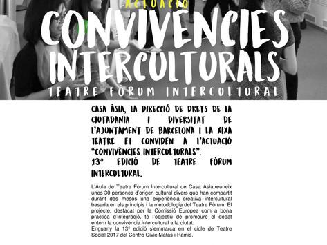 """Teatre fòrum amb Casa Asia! 6 de maig a les 18.00h presentem els resultats del procés """"Convivèn"""