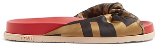 FENDI  FF-print knotted slides