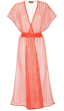 MISSONI sheer wrap front dress