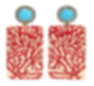 SILVIA FURMANOVICH Marquetry 18-karat gold, wood, diamond and turquoise earrings