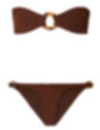 HUNZA G Gloria embellished seersucker bandeau bikini