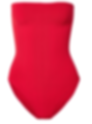 HUNZA G Bandeau ribbed seersucker swimsuit