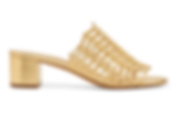 MANSUR GAVRIEL Woven metallic leather mules