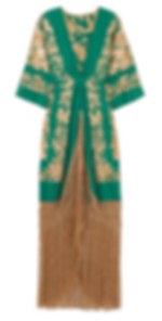 JOHANNA ORTIZ Contigo En La Distancia fringed embroidered silk maxi dress