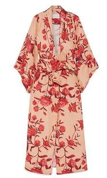 JOHANNA ORTIZ Santa Clara floral-print linen kimono