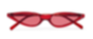 GEORGE KEBURIA red Cat Eye Sunglasses