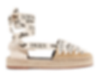 LOEWE + Paula's Ibiza logo-print linen and suede espadrilles