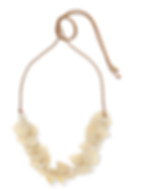 DINOSAUR DESIGNS Pipi leather, resin and faux pearl necklace