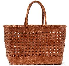 DRAGON DIFFUSION  Woven-leather basket bag
