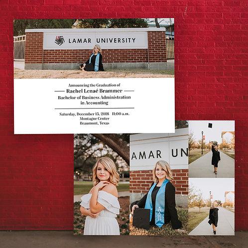 5x7 Collage Graduation Invitation