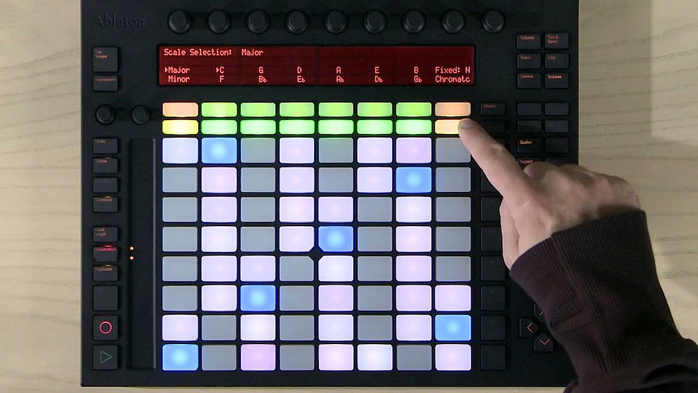 Ableton Push Scale Options