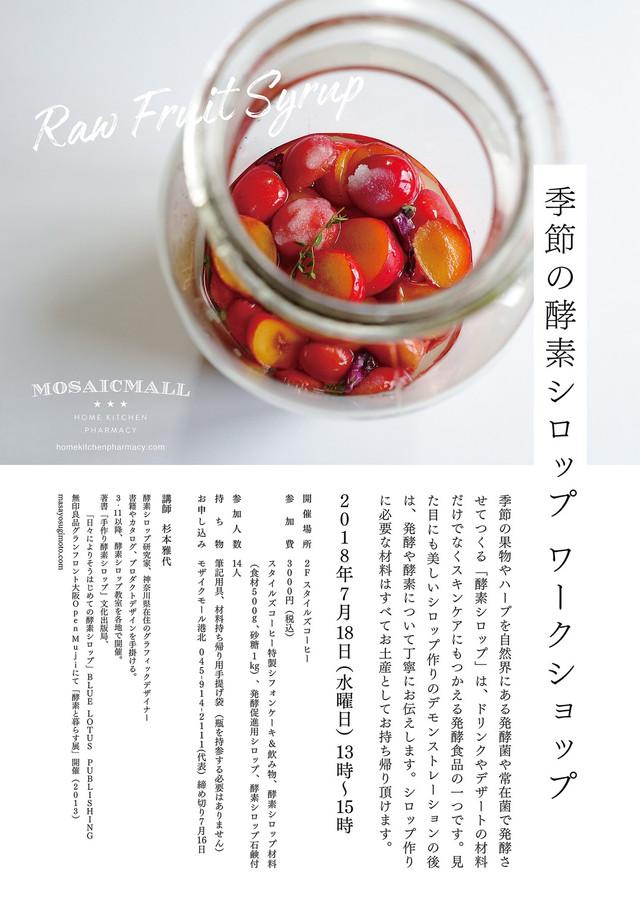 7月18日(水)季節の酵素シロップ ワークショップ
