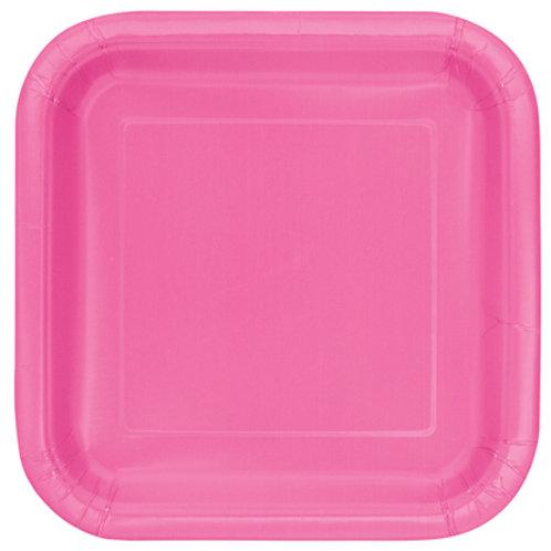 Plates Hot Pink