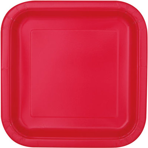 Plates Ruby Red