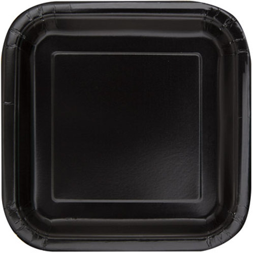 Plates Midnight Black
