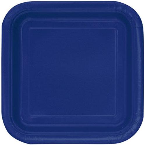 Plates Navy Blue