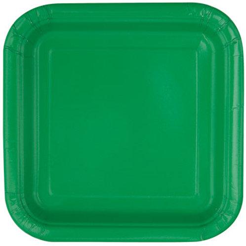Plates Emerald Green