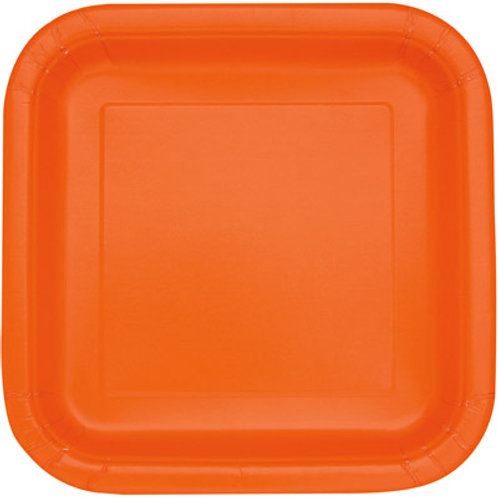 Plates Pumpkin Orange