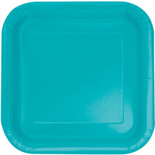 Plates Caribbean Teal