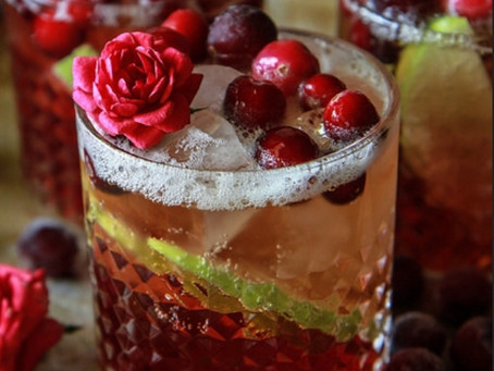 Get into the festive spirit with this locally sourced Apple Cranberry Ginger Mule!