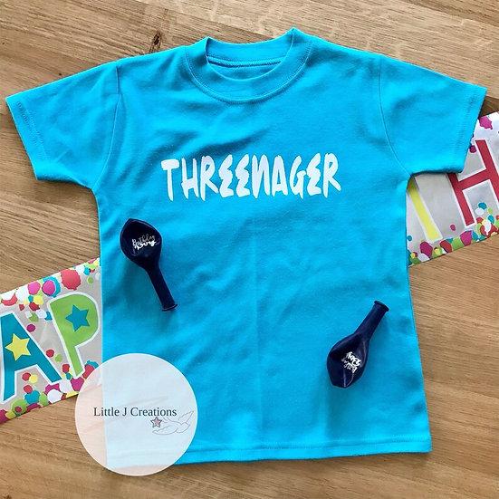 Threenager Tee