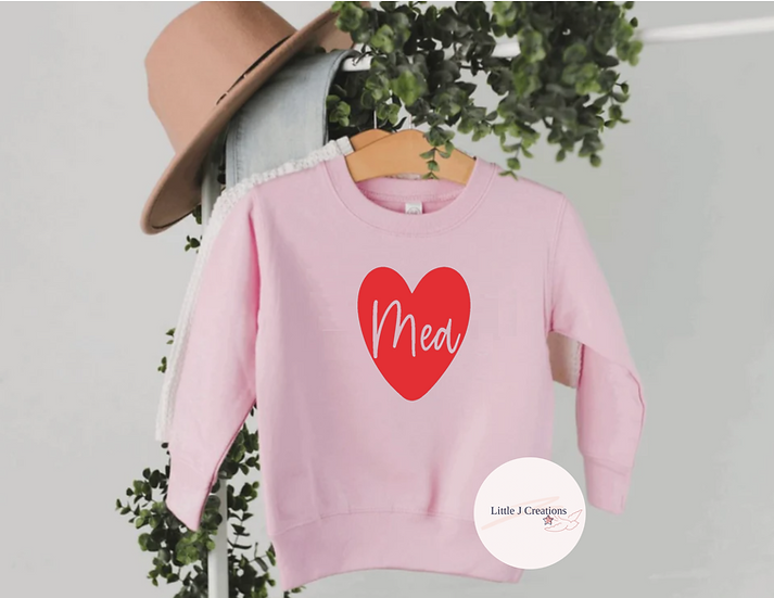 Babies Personalised Heart Sweater