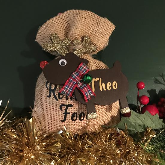Personalised Reindeer Food Bags