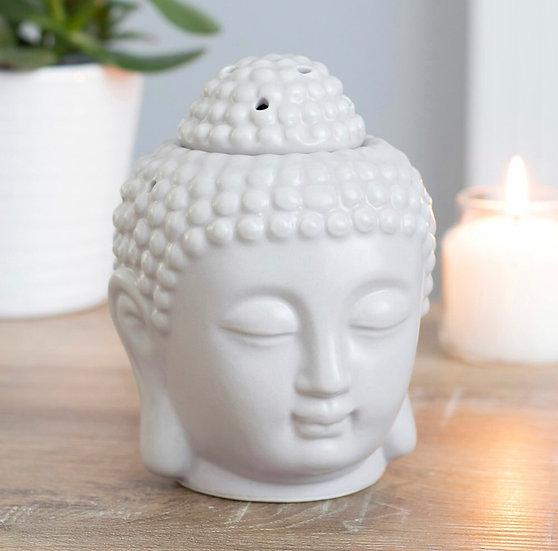 Small Grey Buddha Head Oil Burner