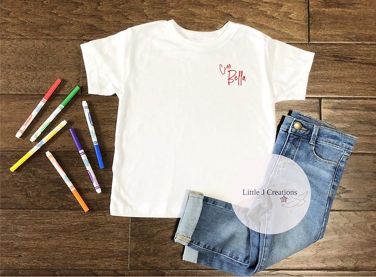 Child's Ciao Bella Tee - Small Design