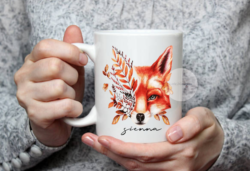Personalised Autumn Fox Mug