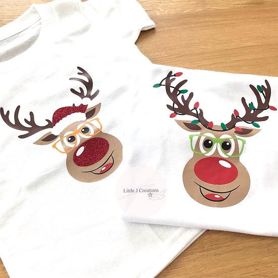 Reindeer Face T-shirt