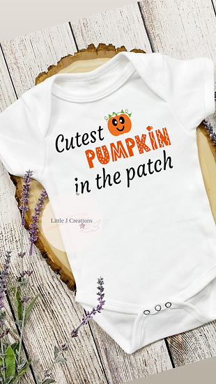 Cutest Pumpkin In The Patch Baby Vest