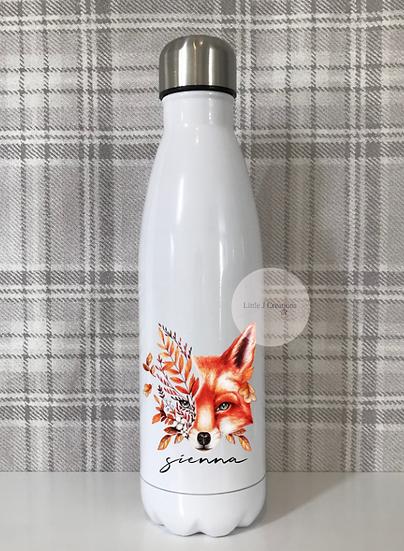 Autumn Fox Double Walled Bottle
