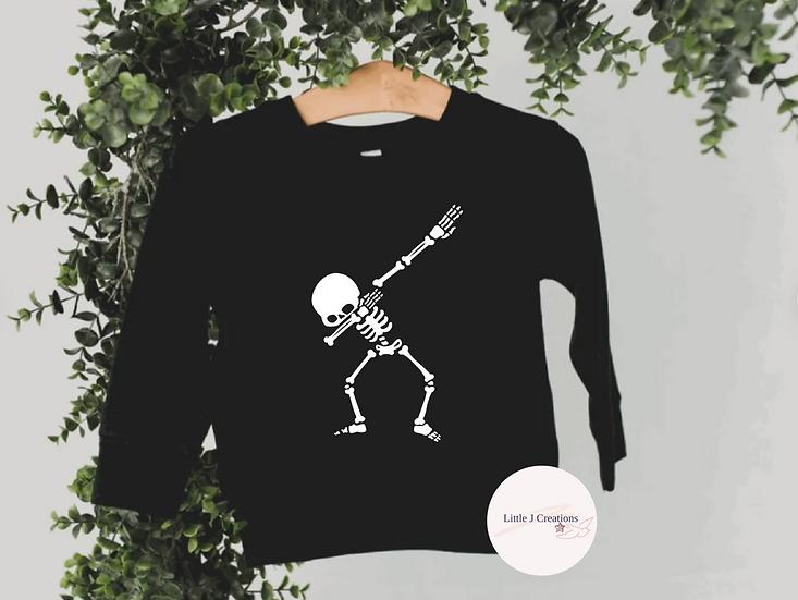 Child's Dabbing Skeleton Sweater