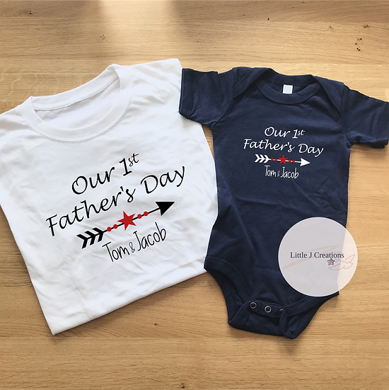 Our 1st Father's Day Twinning Set with Stars