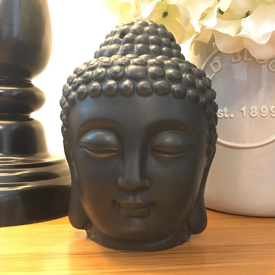 Small Black Buddha Head Oil Burner