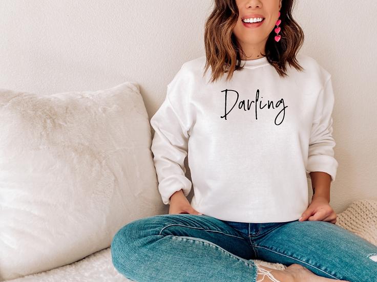 Darling Slogan Sweater
