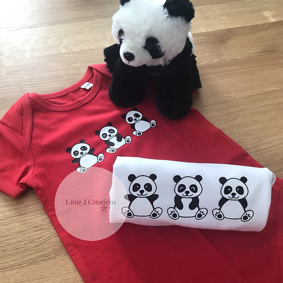 Panda Baby Vest